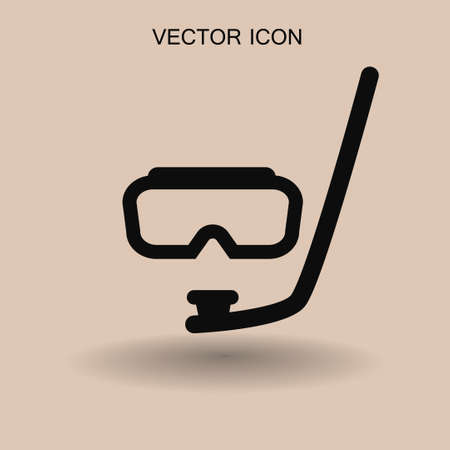 deep sea diver: Diving mask vector icon illustration Illustration