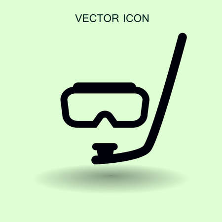 Diving mask vector icon illustration Illustration