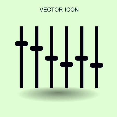 fad: equalizer in retro style vector illustration