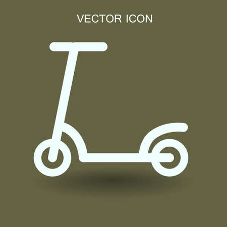 scooter  icon vector illustration