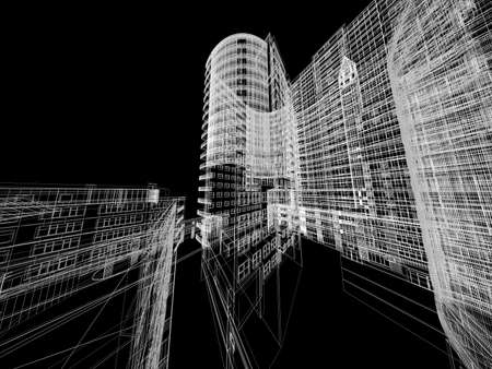 Abstract architecture background illustration