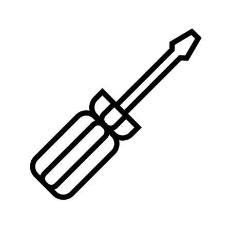screw driver icon vector isolated on white background