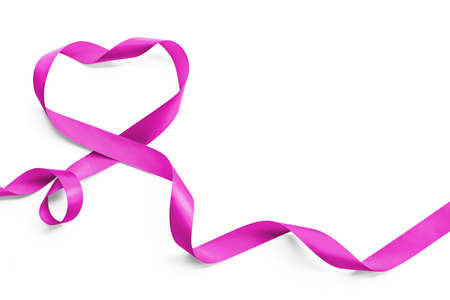 Purple lavender heart ribbon element isolated on white background  , raising awareness on national cancer control month