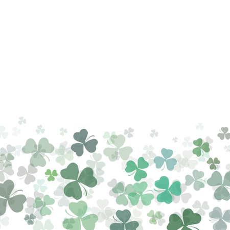 St Patrick day background with shamrock clover leaf, Irish festival symbol Stock Photo