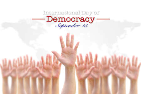 International day of democracy, September 15 concept