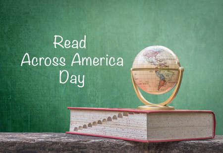 Read across america day, March 2 concept of USA CSR bio idea