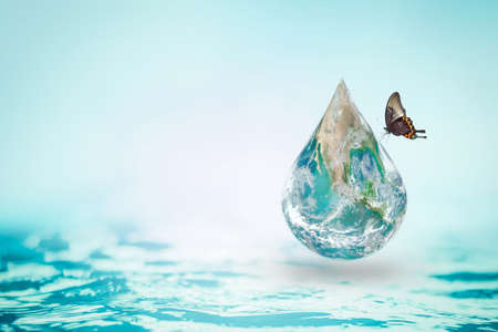 Save water and green environment protection concept