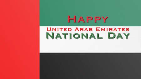 UAE national day celebration symbolic concept with United Arab Emirates flag