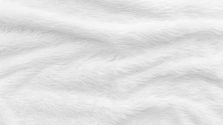 Fur background with white soft fluffy furry texture hair cloth of sheepskin for blanket and carpet interior decoration Zdjęcie Seryjne