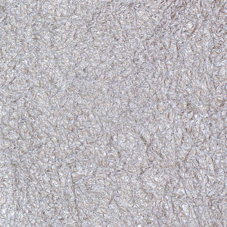 Shiny silver grey paper foil decorative wall paper texture background Banco de Imagens