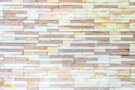 Brick tile wall pattern background in mix color earth tone