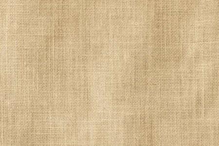 Hessischer Sackleinen gewebter Texturmusterhintergrund in hellcremegelber beige Erdtonfarbe