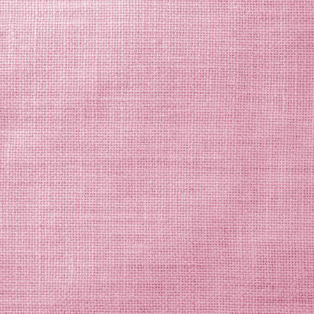 Hessian sackcloth woven texture pattern background in light sweet pink color