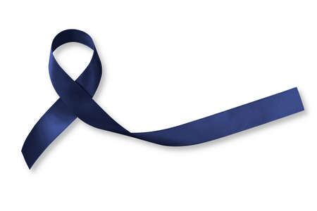 Indigo ribbon (isolated on white, clipping path) for indigo ribbon day campaign raising awareness about crimes committed against targeted Individuals of Organized Stalking and Electronic Harassment