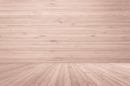 Wooden floor and wood wall room in red brown color 스톡 콘텐츠