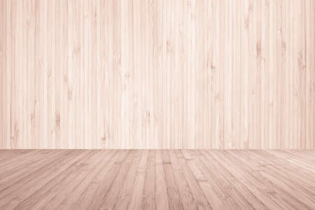 Wooden floor and wood wall room in red brown color Stockfoto