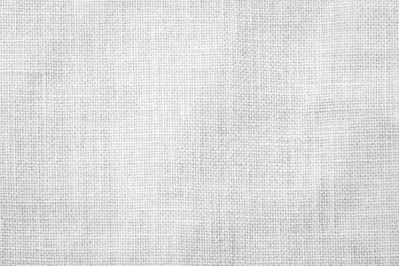 Hessischer Sackleinen gewebter Texturmusterhintergrund in hellweißem Grau