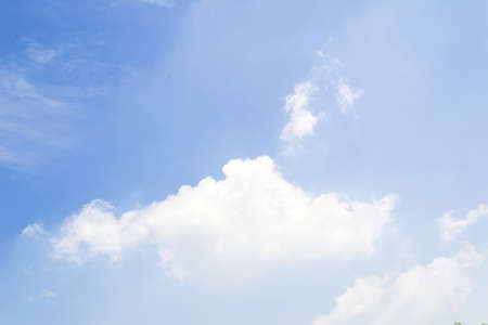 Blue sky with soft clouds background