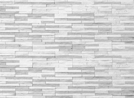 Brick tile wall texture pattern background in white grey color Stock Photo
