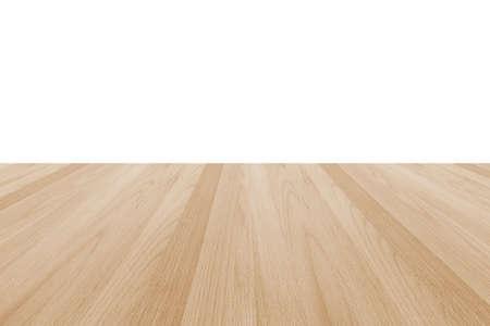 Holzboden Textur in hellcreme beige braunen Farbton isoliert auf weißem Wandhintergrund