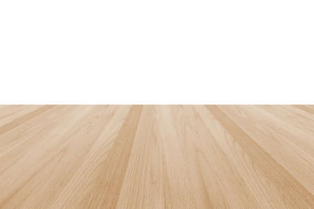 Wood floor texture in light cream beige brown color tone isolated on white wall background