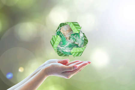 Waste recycle management, eco friendly, energy saving awareness month concept: