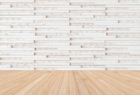 White modern marble tile wall with wooden floor in natural beige brown 版權商用圖片