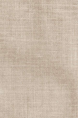 Hessian sackcloth woven texture pattern background in light sepia tan beige cream brown color tone