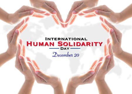 International Human Solidarity Day, for collaboration and cooperative concept