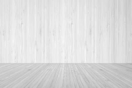 Wood floor textured background with wall wooden backdrop in light white grey color  Zdjęcie Seryjne