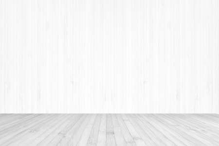 Wooden floor in grey color and wood wall in light white Zdjęcie Seryjne