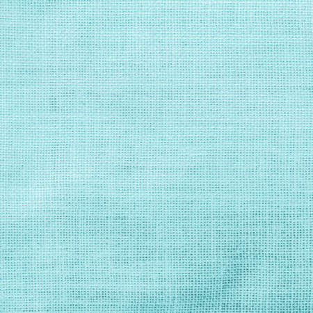 Hessian sack cloth texture canvas fabric pattern background in light pastel cyan blue  color  Zdjęcie Seryjne