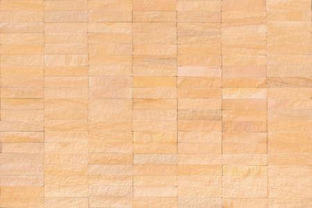 Rock tile wall texture background in natural cream brown beige Reklamní fotografie - 142435964