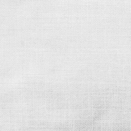 Weißer hessischer Sackstoff Textur Leinwand Stoff Hintergrund