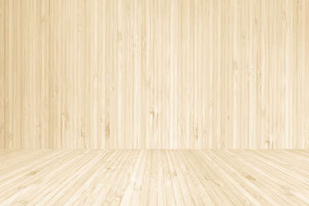 Wood texture background of floor and wall in yellow cream brown color