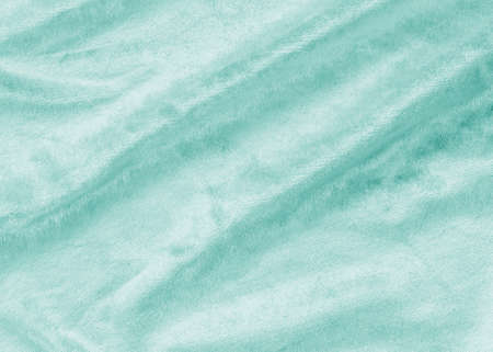 Teal blue velvet background or velour flannel texture made of cotton or wool with soft fluffy velvety satin fabric cloth metallic color material    Foto de archivo