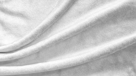 Silver white velvet background or velour flannel texture made of cotton or wool with soft fluffy velvety satin fabric cloth metallic color material Zdjęcie Seryjne