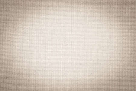 Aged canvas texture background in old white beige sepia color cotton burlap natural fabric cloth for wallpaper and painting design backdrop