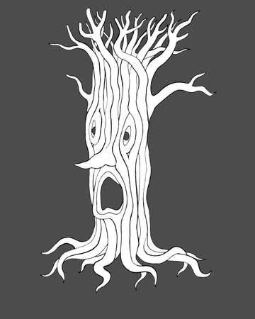 evil tree for Halloween Ilustracja