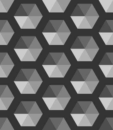 Abstract gray shades. Cube pattern. Monochrome Black and white geometric. 3d vector wallpaper. Completely Cube seamless pattern background