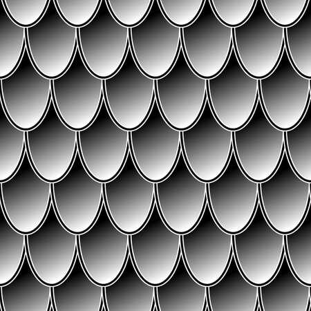 Nahtlose graue Kettenhemd-Drachenschuppen. Drachenschuppe. Einfacher Hintergrund für Design. Vektorillustrationsmusterbeschaffenheit
