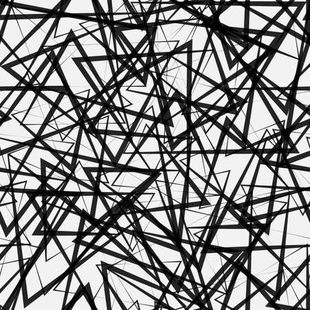 Abstract seamless triangles pattern. Light and dark linear pattern background Illusztráció