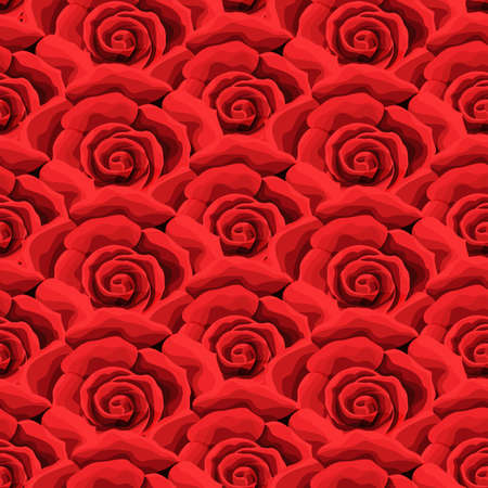 Rose flower Seamless pattern background texture. suitable for printing textile Illustration