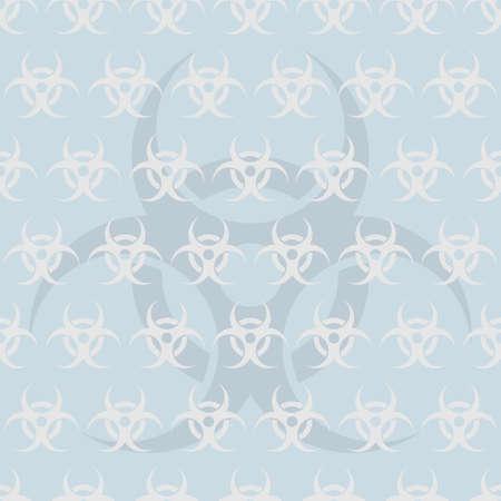 Biohazard symbol icon seamless pattern backdrop vector illustration