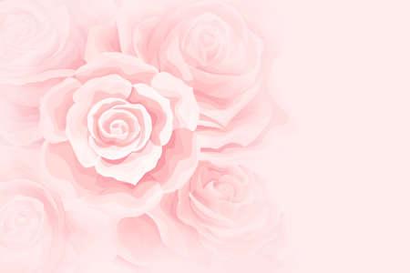 Flower soft background with cream rose flower bud
