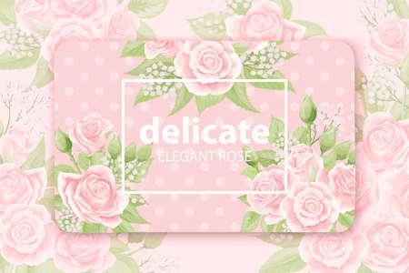 Elegant floral background for your card, flyer, invitation template