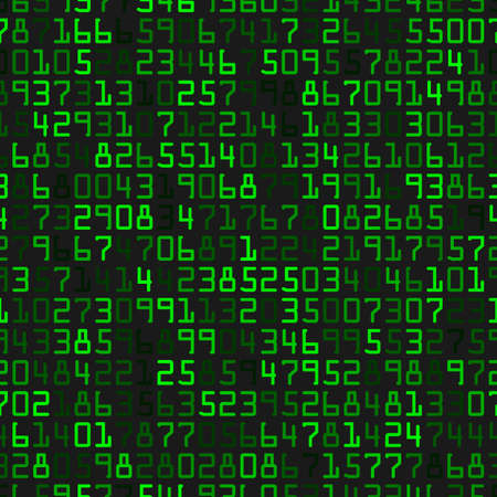 Modern background with green numbers on a black background 일러스트