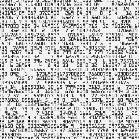 Random symbols seamless pattern. Black numbers on white background