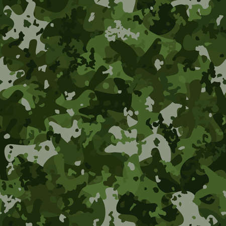 Green camouflage pattern background seamless vector illustration