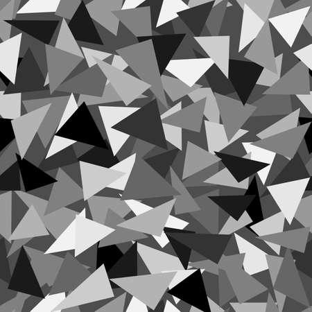 Seamless abstract vector pattern - repeat geometric triangle mosaic background Ilustração Vetorial